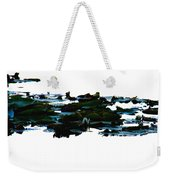 Lily Pads On White Water Weekender Tote Bag