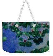 Lily Pond Weekender Tote Bag