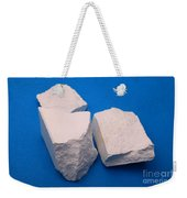 Lime Made From Marble Weekender Tote Bag by Ted Kinsman