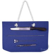 Lincoln Autopsy Instruments, 1856 Weekender Tote Bag