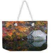 Lincoln Woods Autumn Boulders Weekender Tote Bag