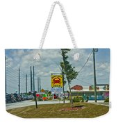 Line For The Swing Bridge Weekender Tote Bag