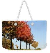 Line Of Autumn Trees Weekender Tote Bag