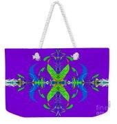 Linear Movement In Purple Weekender Tote Bag