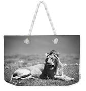 Lion King In Black And White Weekender Tote Bag