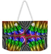 Liquid Metal Butterfly Weekender Tote Bag
