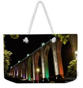 Lisbon Historic Aqueduct By Night Weekender Tote Bag