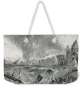 Lisbon Tsunami, 1755 Weekender Tote Bag