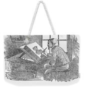 Lithography, 19th Century Weekender Tote Bag