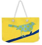 Little Blue Bird Weekender Tote Bag