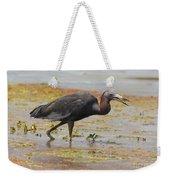 Little Blue Heron In Swamp Weekender Tote Bag