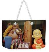 Little Buddhas In Silom In Bangkok In Thailand Weekender Tote Bag