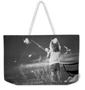 Little Fishing Girl Weekender Tote Bag