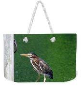 Little Green Heron Weekender Tote Bag