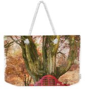 Little Red Bench Weekender Tote Bag