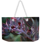 Little Red Blossoms Weekender Tote Bag
