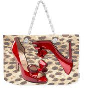 Little Red Bow Peep Toes Weekender Tote Bag