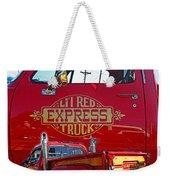 Little Red Exprees Door Hdr Weekender Tote Bag