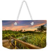 Little White Bench Weekender Tote Bag