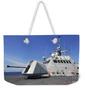 Littoral Combat Ship Uss Freedom Weekender Tote Bag by Stocktrek Images