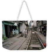 Living By The Tracks In Hanoi Weekender Tote Bag