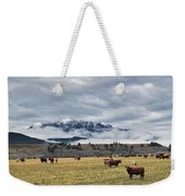 Livingstone Range And Pastureland Weekender Tote Bag