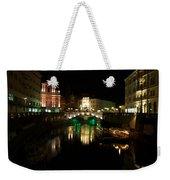Ljubljana By Night Weekender Tote Bag