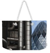 Lloyds Of London And The Gherkin Building Weekender Tote Bag