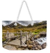 Llyn Idwal Bridge Weekender Tote Bag by Adrian Evans