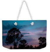 Loblelly Pine Silhouette Weekender Tote Bag by DigiArt Diaries by Vicky B Fuller