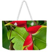 Lobster Claw Heliconia Weekender Tote Bag