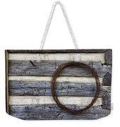 Log Cabin And Barbed Wire Weekender Tote Bag