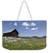 Log Cabin On The High Country Ranch Weekender Tote Bag