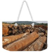 Logged Timber From The Tropical Weekender Tote Bag