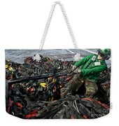 Logistics Specialist Wraps Cargo Nets Weekender Tote Bag