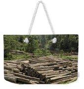 Logs In Logging Area, Danum Valley Weekender Tote Bag