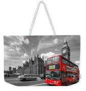 London Big Ben And Red Bus Weekender Tote Bag