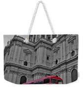 London Bus At St. Paul's Weekender Tote Bag