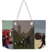 London Matrix Triptych Weekender Tote Bag by Jasna Buncic