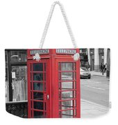 London Phone Box Weekender Tote Bag