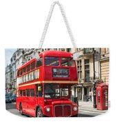 London Red Bus Weekender Tote Bag