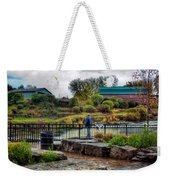 Lone Fisherman Weekender Tote Bag