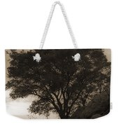 Lone Oak 2 Sepia Weekender Tote Bag