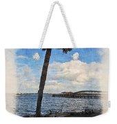 Lone Palm Tree Weekender Tote Bag