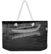 Lone White Boat In Nova Scotia Weekender Tote Bag