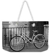 Lonely Bike In Black And White Weekender Tote Bag