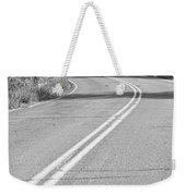 Long And Winding Road Bw Weekender Tote Bag