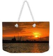 Long Beach Harbor Sunrise Weekender Tote Bag