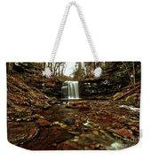 Long Canyon Waterfall Weekender Tote Bag