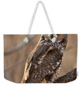 Long-eared Owl Weekender Tote Bag